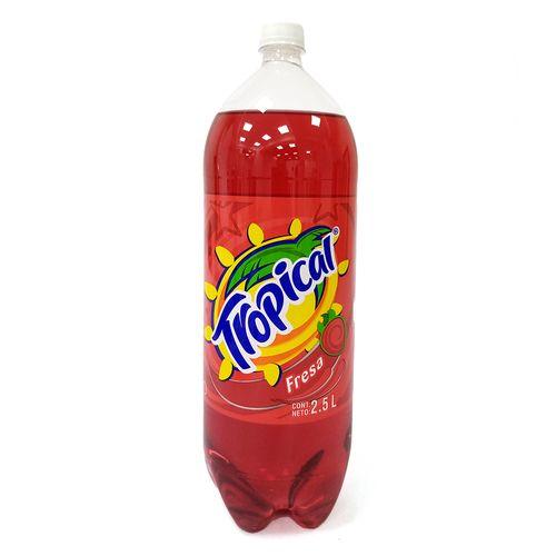 Bebida carbonatada de fresa