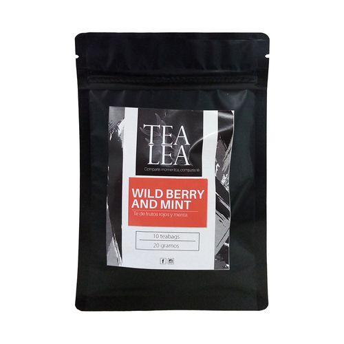 Kit moderna wild berry & mint infusor + 1 oz de te en hoja suelta