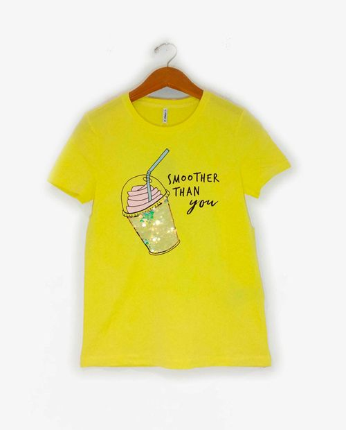 Camiseta fem knit limelight