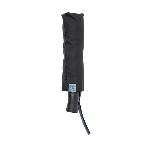Sombrilla negra solida automatica con luz led