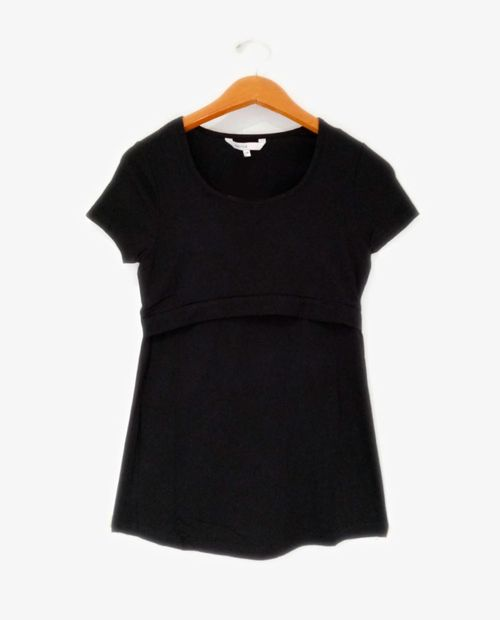 Camiseta basica lactancia negro