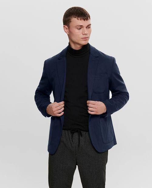 Blazer masculino knit  night sky