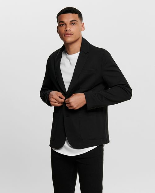 Blazer masculino knit  black