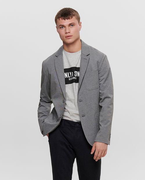 Blazer masculino knit  medium grey melange
