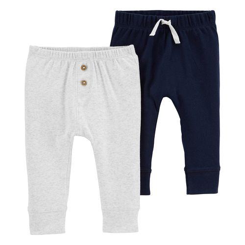 2pk pants azul y gris para bebé niño