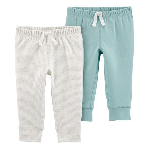 2pk pants neutros gris y celeste  para bebé