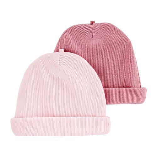 2pk gorros rosados para bebé niña