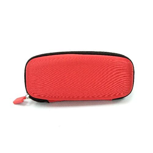 Estuche de tela rojo  con cierre para anteojos