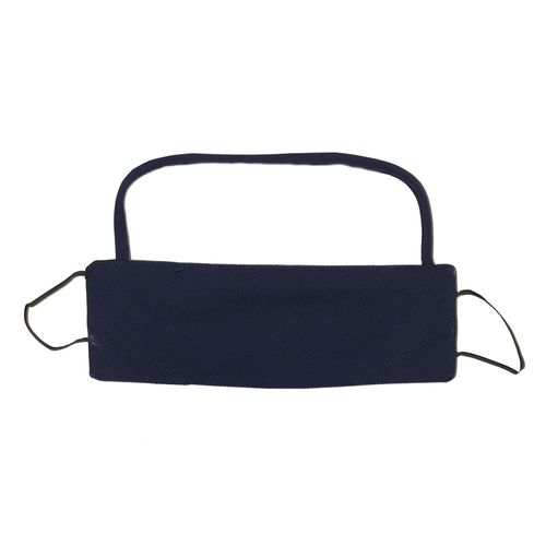 Cubreboca de tela con visor de proteccion sol navy