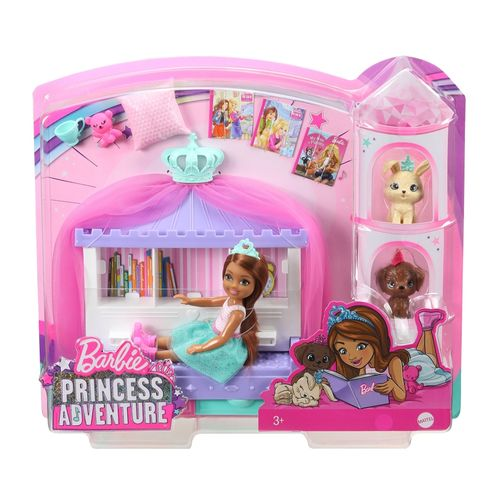 Barbie aventura de princesas set de chelsea con mascotas