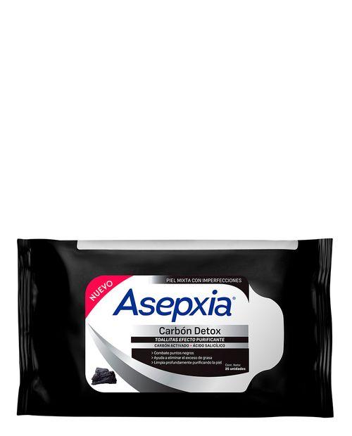 Asepxia Carbón Détox Toallitas Faciales 25 Unidades