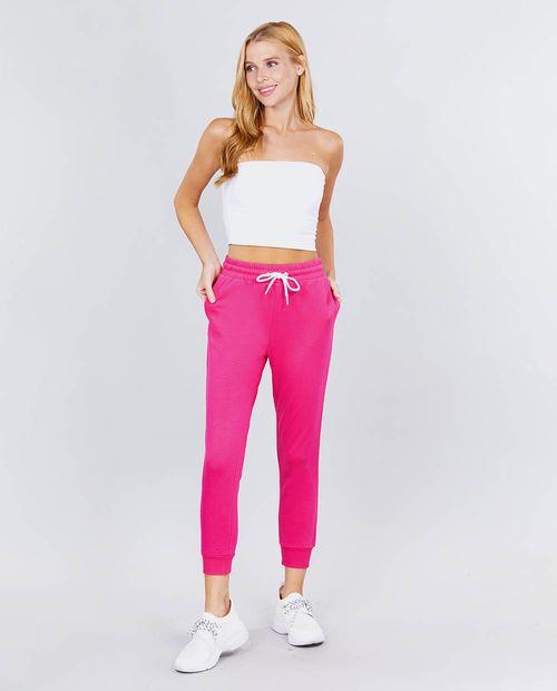 Jogger solido -bubblegum pink