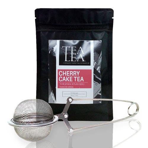 Kit moderna cherry cake infusor + 1 oz de te en hoja suelta