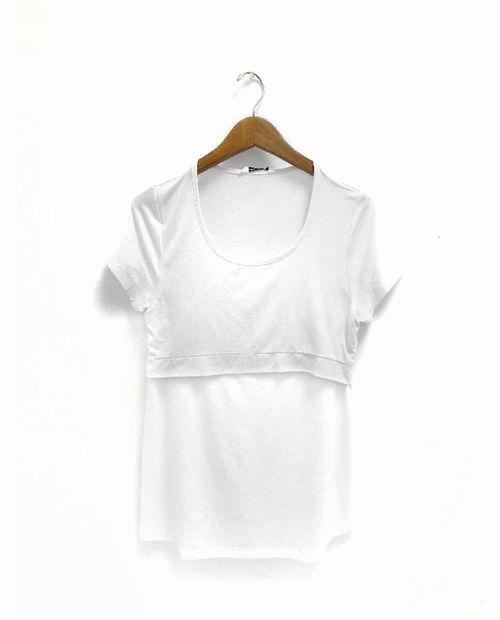 Camiseta basica lactancia blanco