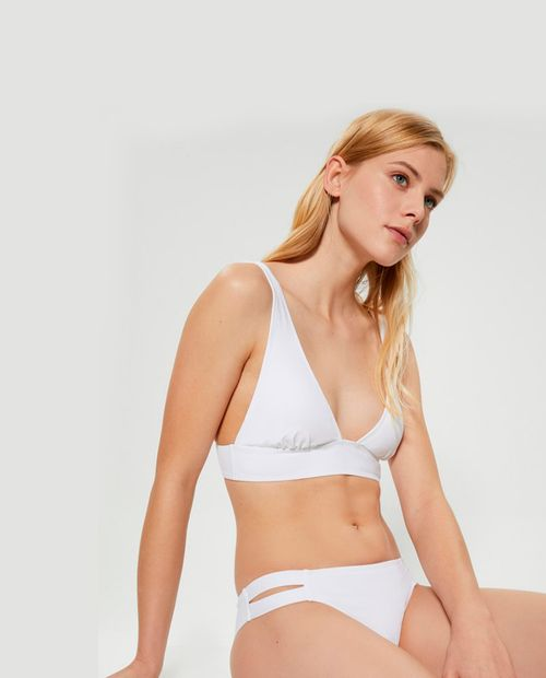Braguita bikini tiras anchas blanco