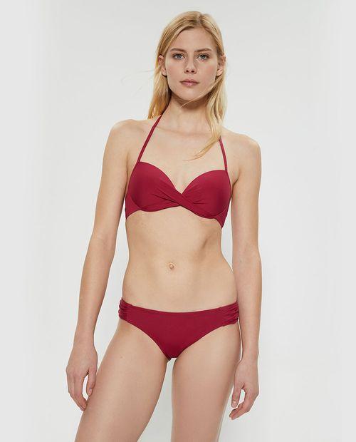 Braguita bikini frunces rojo