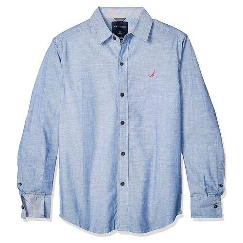 Camisa m/l de niño sky blue 424