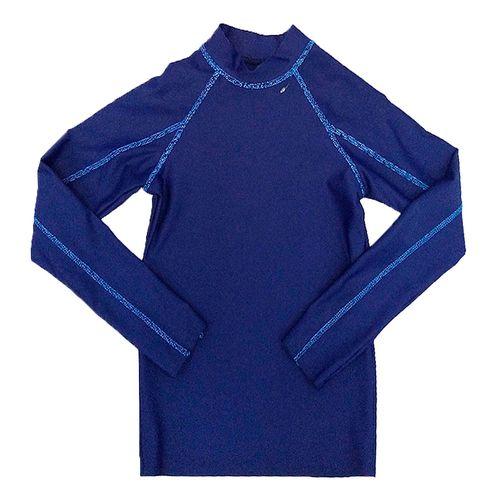 Rashguard c/manga larga azul