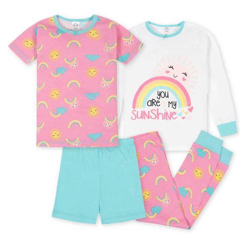4 piezas pijamas reinbow