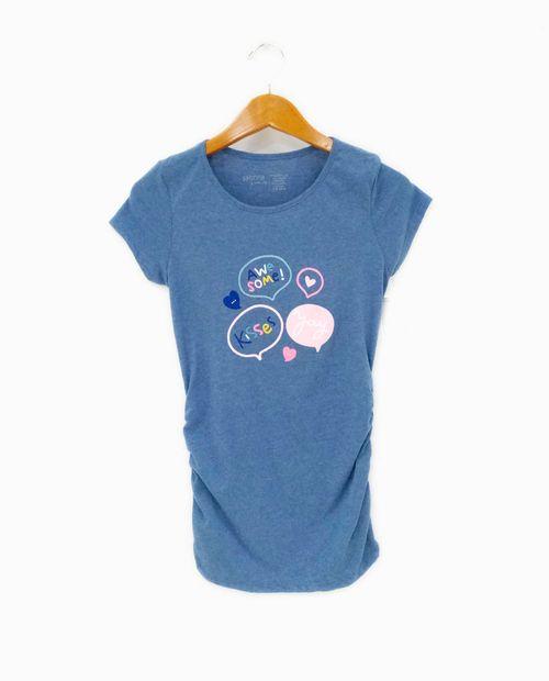 Camiseta c/redondo prt awesome/kisses/yay