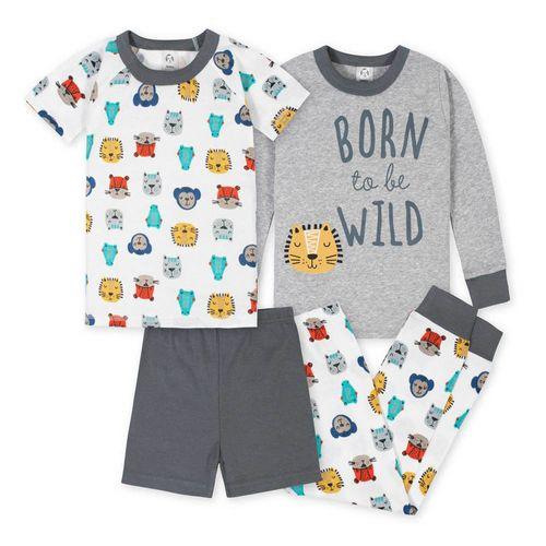 4 piezas pijamas  animal heads
