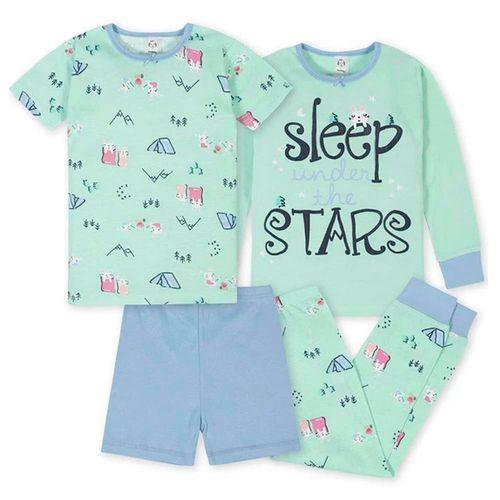 4 piezas pijamas girl camping
