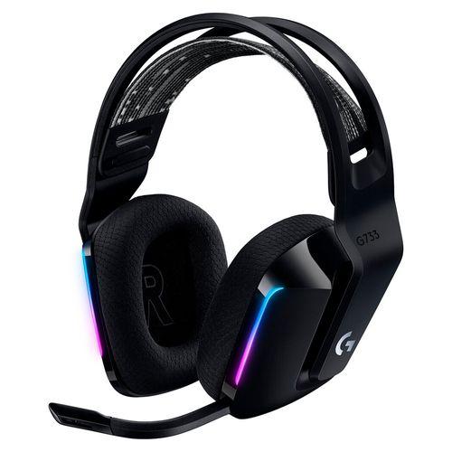 Audífono gaming g733 lightspeed  negro