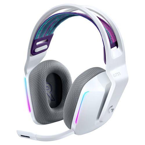 Audífono gaming g733 lightspeed inalambrico blanco
