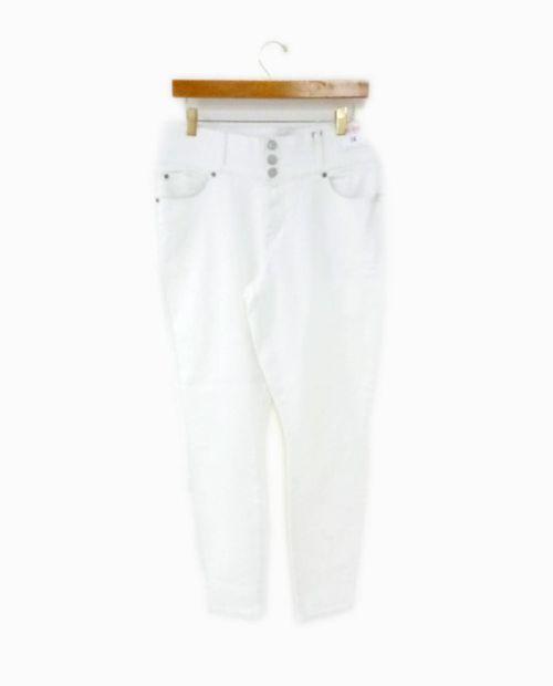 Jeans  blanco (opt white) con elastico mid rise