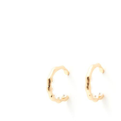 Agollass dorados con perlas