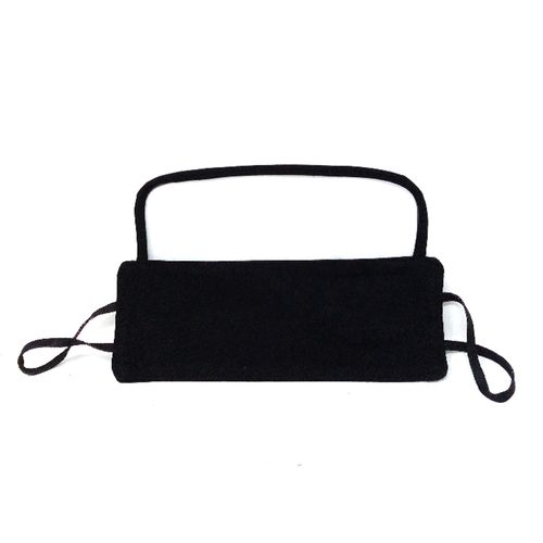 Cubreboca de tela con visor de proteccion negro