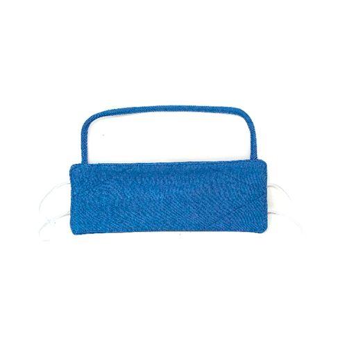 Cubreboca de tela con visor de proteccion denim