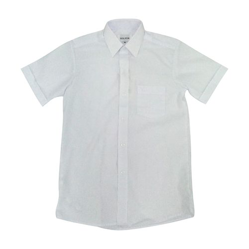 Camisa colegial niño g2 blanco mc