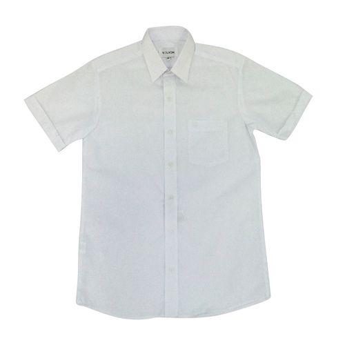 Camisa colegial niño g3 blanco mc