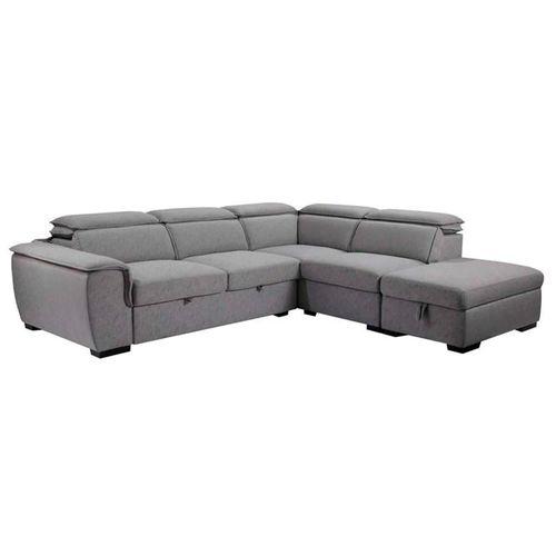 Sala seccional con almacenaje y sofa cama Gerardo