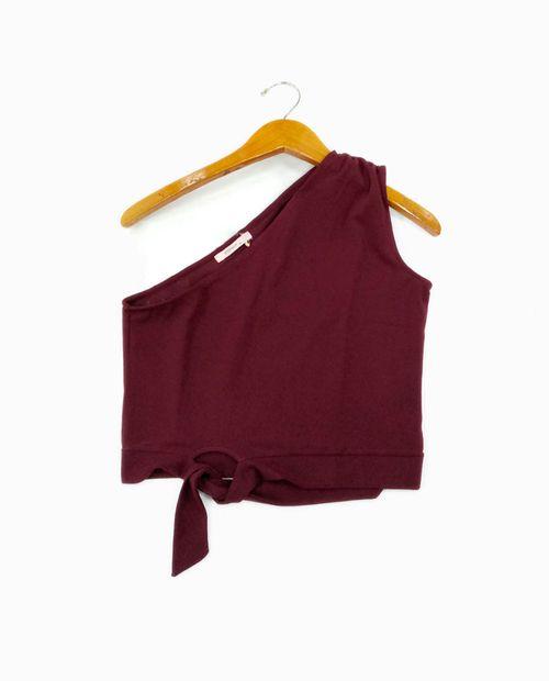 Blusa corta burgundy
