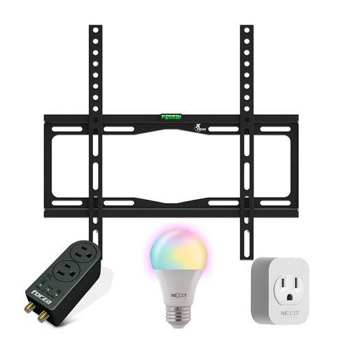 Kit smart - Rack para Tv + regulador + bombillo y enchufe smart