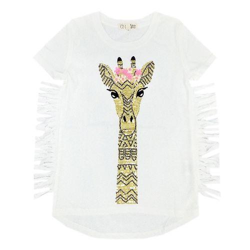 Blusa  blanca jirafa