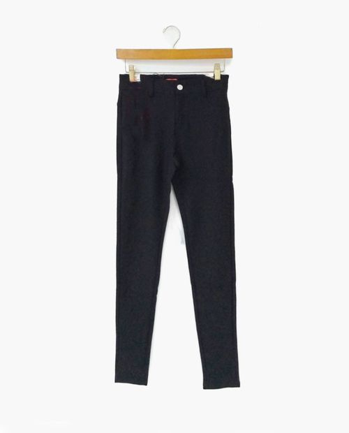 Functional ponte pants with 1 buttons black