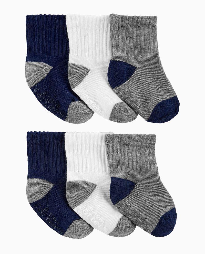 6pk-calcetines-gris-navy-y-blanco-niño