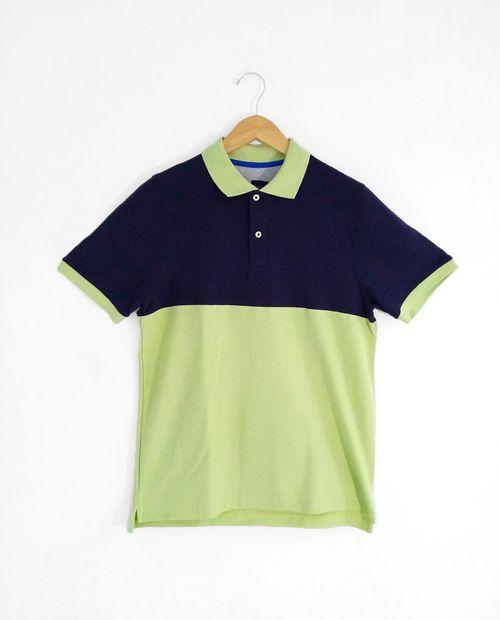 Polo moda navy con lt green