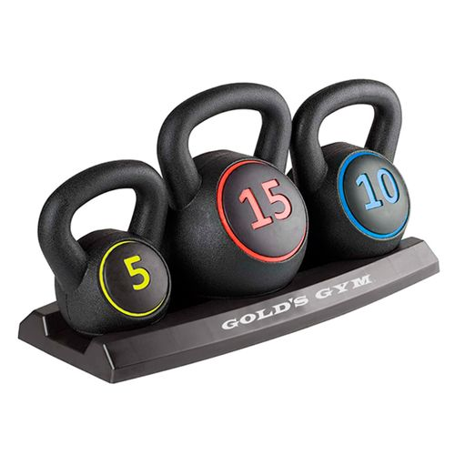 Kit de kettlebell 5-15 lb golds gym