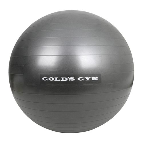 Bola de ejercicio anti rafaga gris 65 cm golds gym