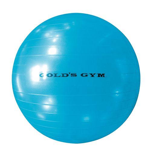 Bola de ejercicio anti rafaga azul 65 cm golds gym