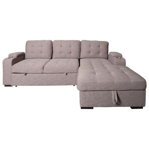 Sala seccional con almacenaje y sofá cama Gianmaria