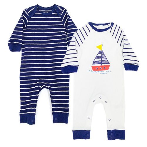2pk rompers de barcos para bebé niño