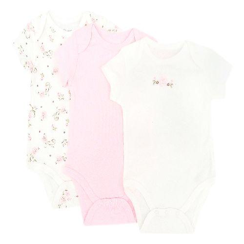 3pack de mameluco niña rosas