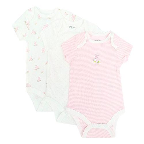 3pack de mameluco de canejitos para bebé niña