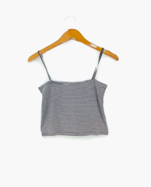 Blusa crop rayas negro/ blanco