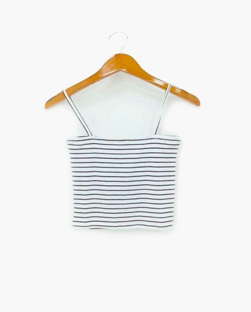 Blusa crop rayas blanco/ negro